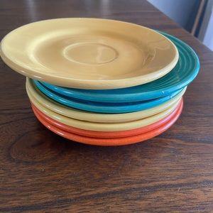 Set of 7 Bauer Los Angeles bread plates